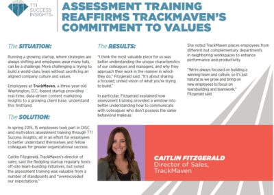Assessment Training Trackmavens Commitment to Value