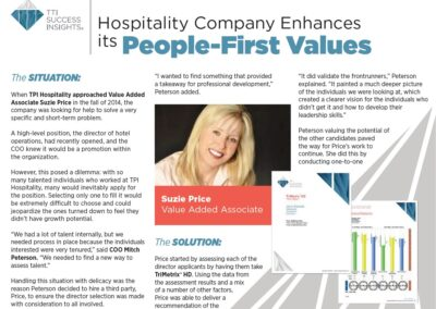 Hospitality People First Values